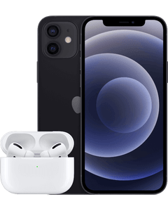 iPhone 12 with AirPods Pro