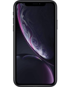 A iPhone XR in Black from the front.
